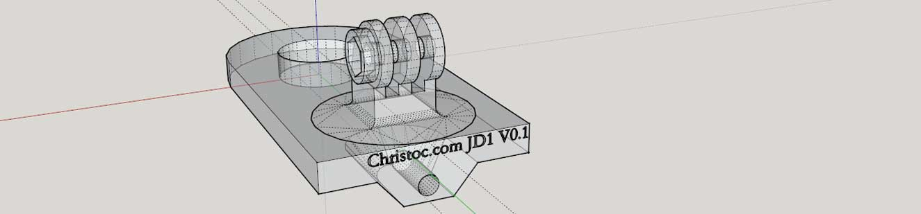 JD1 Dynamic Camera Mount Wireframe